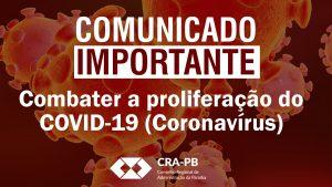 COMUNICADO IMPORTANTE - CORONAVÍRUS