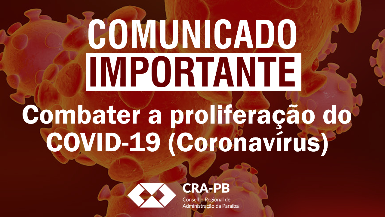 Covid-19: CRA-PB substitui temporariamente atendimento presencial por on line