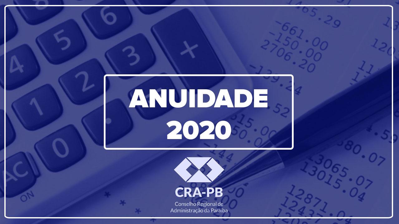 Últimos dias para o pagamento da anuidade 2020 sem acréscimo de juros e multa