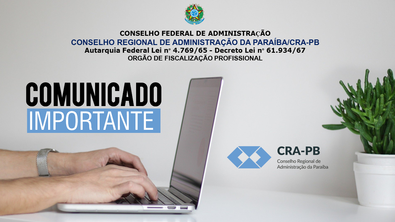 COMUNICADO IMPORTANTE DO CRA-PB