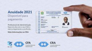 CRA-PB dará descontos para pagamento da Anuidade 2021 em janeiro e fevereiro