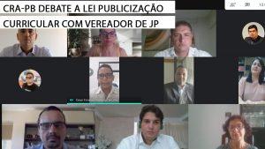 CRA-PB se reúne com vereador da capital paraibana para discutir a Lei de Publicização Curricular